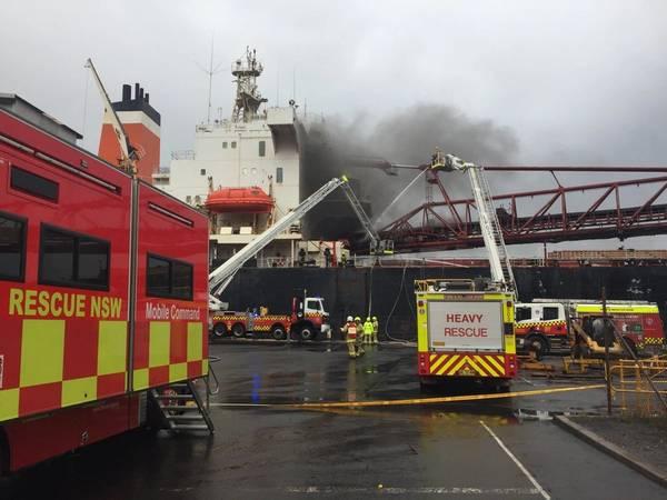 (Foto cedida Foto: Fire and Rescue NSW)