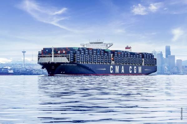 Dateibild: Ein CMA CGM Boxschiff / © DonWilson_12