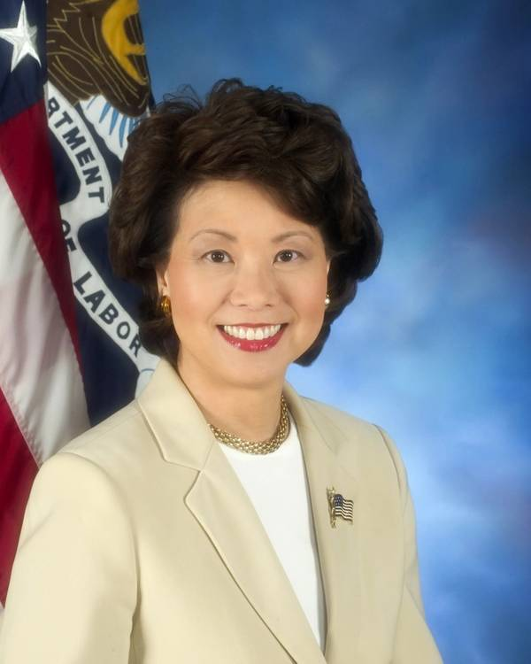 Elaine L. Chao, Secretaria de Transporte de los Estados Unidos