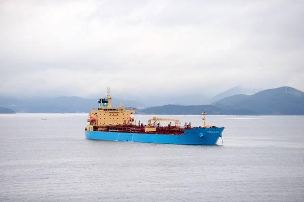 File Image: Um típico boxe da Maersk em andamento (CREDIT: Maersk)