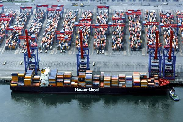 Foto do arquivo do Yantian Express (Foto: Hapag Lloyd)