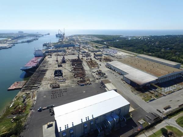 VT Halter en Pascagoula, MS, ganó un contrato de $ 746 millones para construir el cortador de seguridad Polar líder de la Guardia Costera de EE. UU. Foto: VT Halter.