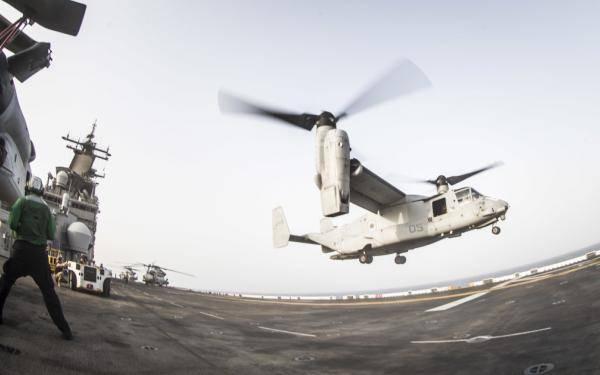 Imagen de archivo: Operaciones de vuelo en el USS Boxer (CRÉDITO: USN)