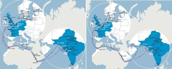 Karte: CMA CGM Gruppe.