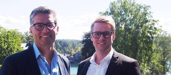 Peter Schroder, Director de Digital en Maersk Tankers y Aleksander Stensby, Director General de Klaveness Digital. Foto: Klaveness Digital