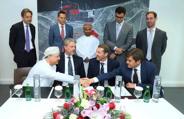 SOHAR firma un acuerdo con Dredging International NV. Foto: Página oficial de Twitter de SOHAR