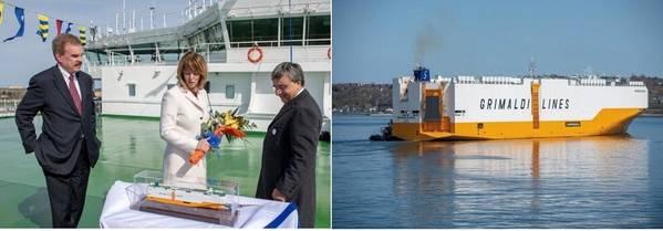 Von links, Andy Abbott, CEO von ACL, Karen Oldfield und Costantino Baldissara. Foto: Hafen Hamburg Marketing