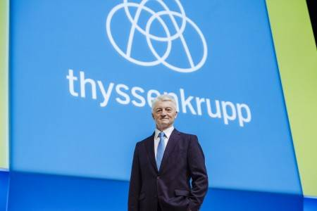 O diretor executivo da Thyssenkrupp, Heinrich Hiesinger. © thyssenkrupp AG