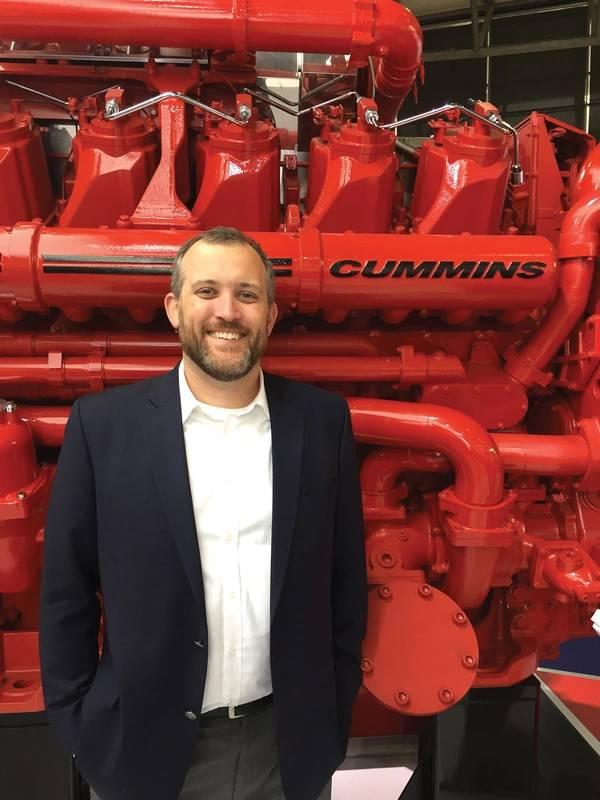 """""""تخطط Cummins لتكون رائدة في القوة المكهربة ونعتقد أن قطاع الأعمال هذا سيوفر الابتكار والتركيز لضمان النجاح في المستقبل"""" Eddie Brown ، Cummins Marine. الصورة: الكمون البحرية"""