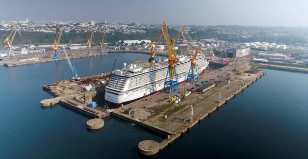 Νορβηγική παραβίαση στο Damen Shiprepair Brest (Φωτογραφία: Damen)