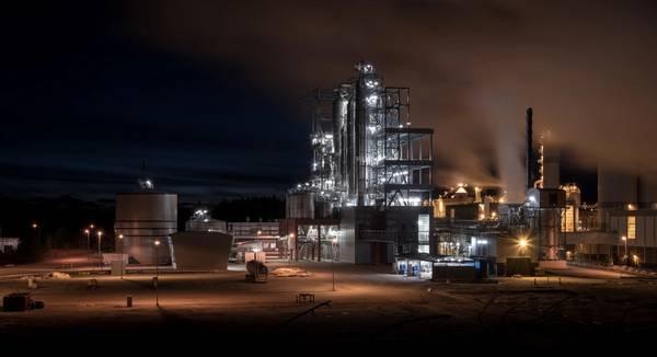 مصنع Forchem في راوما ، فنلندا CREDIT: MAN