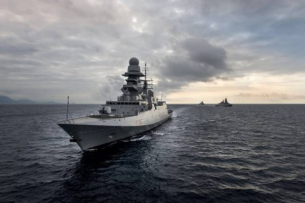 护卫舰图片由Filippo Vinardi提供; Fincantieri公司