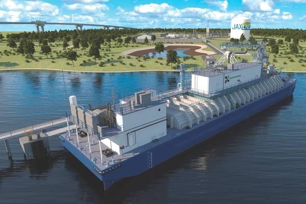 """财务复杂性符合逻辑复杂性。 JAX LNG是由Pivotal LNG(Southern Company Gas的全资子公司)和NorthStar Midstream,LLC(由K-Sea Marine的Tim Casey领导,由Oaktree内的一个基础设施集团管理的基金以及Clean Marine能源LLC)。后者的负责人包括范·里斯马(Van Reesema)家族,他们以""""琼斯法案""""(Canadian Act)油罐车""""美国凤凰""""(American Phoenix)的投资而闻名。 (信用:清洁海洋能源)"""