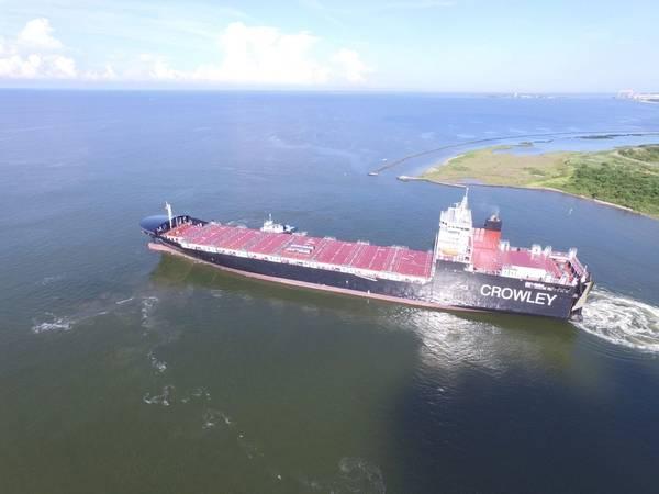 Το El Coquí είναι ένα από τα πρώτα πλοία ConRo στον κόσμο που τροφοδοτούνται από LNG (Φωτογραφία: Crowley)