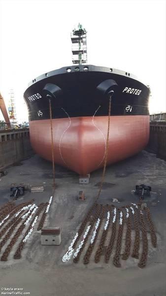 El Motor Tanker PROTEO (Crédito MarineTraffic.Com © Erazo)