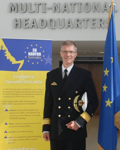 The outgoing Deputy Commander Rear Admiral Jean Martens (German Navy) (Photo courtesy EU NAVFOR)