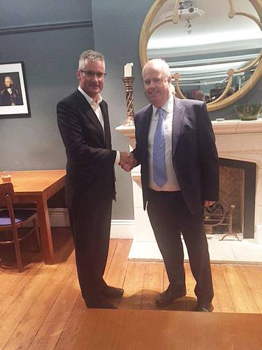 From left to right - Professor Ian Jenkinson, Head of Department of Maritime and Mechanical Engineering at Liverpool John Moores University (LJMU), with Lars Ugland, Chairman  of IOMSA (Photo: Mersey Maritime)