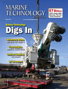 Marine Technology Magazine Cover Mar 2016 - Oceanographic Instrumentation: Measurement, Process & Analysis