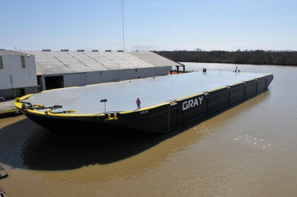 Conrad Delivers Massive Deck Barge To JR Gray