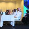 Khaled al Saleh (CITC), Abdullah Sulaiman (Sada), Neil Pringle (Inmarsat), Ronald Spithout (Inmarsat), Zeina Mokaddem (Inmarsat), Faris al Alam (CITC), Malik Sulaiman (Sada), Shabeer Mohammad (Global Beam Telecom) (Photo: Inmarsat)