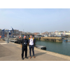 Left to right: Ben Timpson (Project Agency Team Co-Ordinator) and Steven McWilliam (Project Agency Team Manager) at the port of Ramsgate. (Photo: GAC)