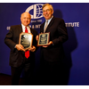 """From left: William J. """"Bill"""" Shea, CEO of Direct ChassisLink, Inc and J. Christopher Lytle,  recently retired Executive Director of the Port of Oakland, CA  (Photo: CII)"""