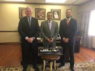 From left to right: Steven Blowers, Bahri Logistics Country Manager; Consul General of Saudi Arabia, Sultan Al Angari; and Cliff Kuhfeldt, Bahri Logistics Regional Manager Sales – South (Photo: Bahri)