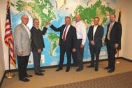 Left to right: Ken Kaczmarek, Chairman, Ports of Indiana Commission; Michael Ferguson, President, Metro Ports; Michael Giove, COO, Nautilus International Holding Company; Rich Cooper, CEO, Ports of Indiana; Jody Peacock, Vice President, Ports of Indiana; Ian Hirt, Port Director, Port of Indiana-Burns Harbor (Photo: Ports of Indiana)