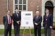 Chairman of the Board of Trustees R. Keith Michel, ABS CEO Christopher J. Wiernicki, Webb Institute President RADM (Ret) Robert C. Olsen and Webb Trustee Jon Jay LaBerge.