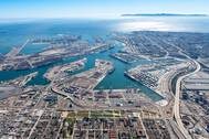 An aerial view of the Los Angeles Port complex (CREDIT: Port of Los Angeles)