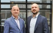 Alessandro Crocitto (left) is heading the new Blue Water office in Milan. Also pictured is Thomas Bek, Global Director of Blue Water's Energy & Project Division. (Photo: Blue Water)