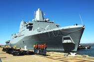 Amphibious Warship 'Arlington': Photo credit USN