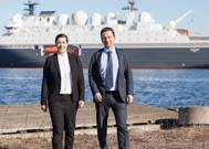 Anita Oestmann, DNV GL and Roger Ringstad, Seagull Maritime. Photo T.Aas, Seagull Maritime 2017 (Photo: DNV-GL & Seagull Maritime)