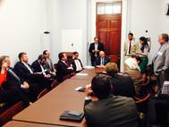 At the Annual Barge-In, members of the American Waterways Operators discuss economic, environmental and commercial issues with members of Congress. (Photo: American Waterways Operators)