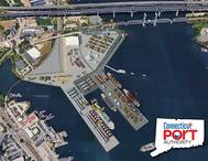 Artist rendering reflecting a potential maximum buildout configuration of the State Pier facility (Image: CPA)