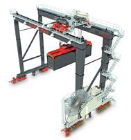 Automated Stacking Crane: Image credit Konecranes