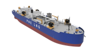 LNG Bunkering Barge currently under construction at Fincantieri Bay Shipbuilding. Image: MacGregor/Fincantieri Bay Shipbuilding
