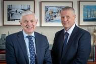 Cammell Laird Chief Operating Officer Tony Graham and Managing Director Paul Owen (Photo:Cammell Laird)