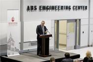 ABS Chairman, President and CEO Christopher J. Wiernicki addresses attendees at the dedication ceremony for the new ABS Engineering Center at Stevens Institute of Technology - Copy