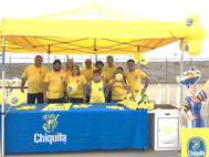 Chiquita staff handed out free bananas and several other prizes by playing the Miss Chiquita game with attendees at the Port's Annual Banana Festival  (Photo:  Port of Hueneme)