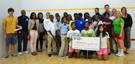 Chucktown Squash participants accept a $2,000 Community Giving award (Photo courtesy of the SC Ports Authority)