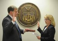 Commissioner Maffei being sworn in (Photo: FMC)