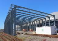 Construction begins on rail canopy at AV Dawson's freight terminal in Middlesbrough (Photo: AV Dawson)
