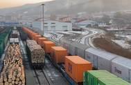 Container Trains near Grodekovo. Photo: © Eurosib