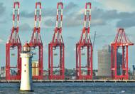 Containers Cranes over the River Mersey. CREDIT: (c) Jim Giddens Adobe Stock