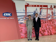 Mr. Danping Lou, Chief Technical Officer, Hudong-Zhonghua Shipbuilding, a part of CSSC Group (left) with Noah Silberschmidt, CEO, Silverstream Technologies (right) (Photo: Silverstream Technologies)