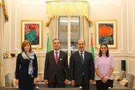 The EMAC delegation with His Excellency Saqr Nasser Al Raisi, UAE Ambassador to Italy during the IBA Conference in Rome (Photo: EMAC)
