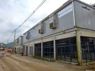 One of GE's e-houses that provides power generation and control to the Tiplam terminal at the port. (Photo: GE)