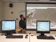 BCG engineer Jason Zilbauer conducts training with the Naval Academy instructors who will use the software (Photo: BCG)