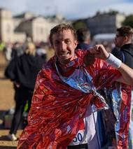 George Belcher, a third engineer who has served as a mariner for more than seven years, took on the 26.2 mile London Marathon on October 3, 2021 to raise awareness of the challenges seafarers are facing due to the pandemic. Photo courtesy Sailor's Society